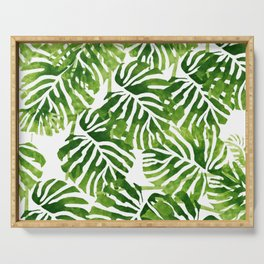 Tropical Leaves - Green Serving Tray