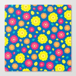 Easter Flower Power Pattern Canvas Print