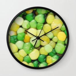 Lemon Lime Abstract Wall Clock