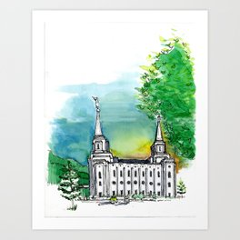 Brigham City Temple Art Print