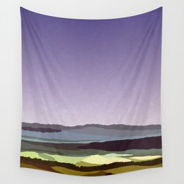 Sunset over the Valley Wall Tapestry