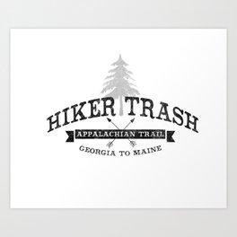 AT Hiker Trash - NoBo Art Print