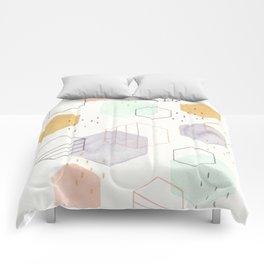 Hexagon Scatter Comforters