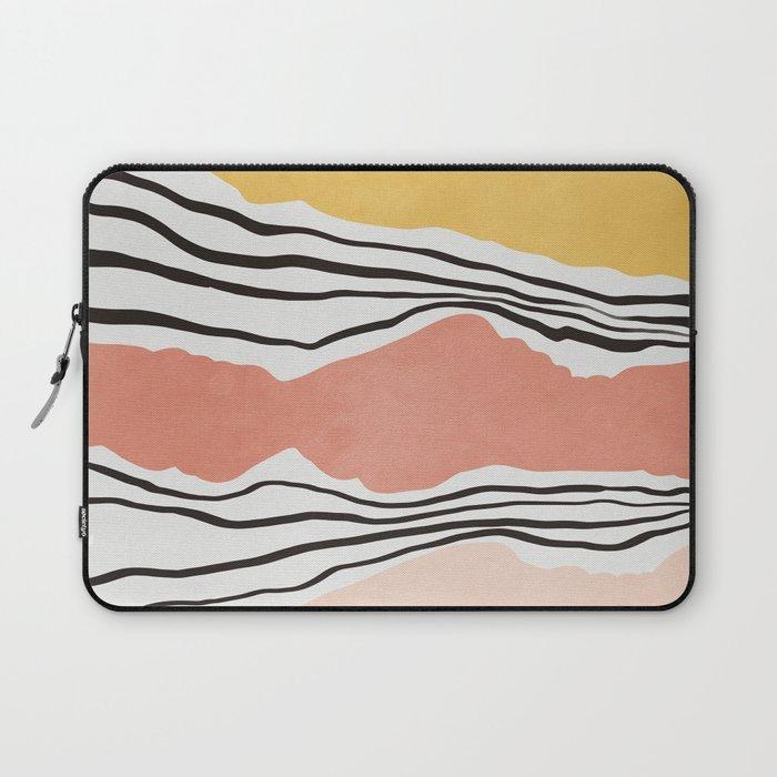Modern irregular Stripes 01 Laptop Sleeve