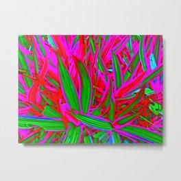 Glowing Grass Metal Print