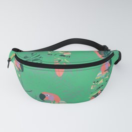 Pretty Polly green palm Fanny Pack