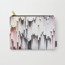 White Black Mauve Cascade Abstract Carry-All Pouch