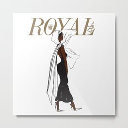 Nia Royal Metal Print