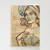 hallion Stationery Cards featuring Iron Woman 7 by Karen Hallion Illustrations