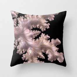 PEARL pretty petal pink in an abstract organic form Throw Pillow