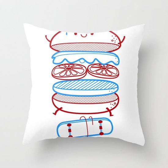 Street burger  Throw Pillow