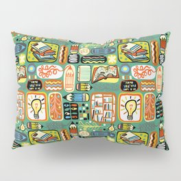 Reading and Writing Pillow Sham