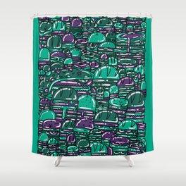 Eighty One Burgers Shower Curtain