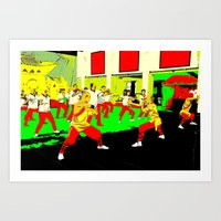 workout Art Prints featuring Workout by lookiz