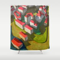 model Shower Curtains featuring virtual model by Federico Cortese