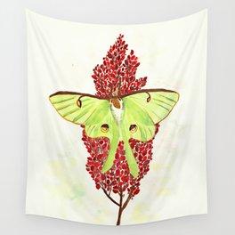 Luna Moth On Sumac Wall Tapestry