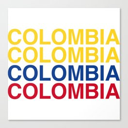 COLOMBIA Canvas Print