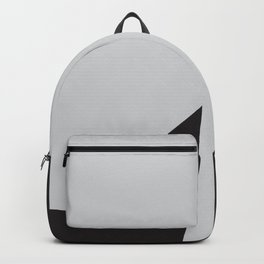 Simple black and white abstract art Backpack