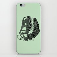 t rex iPhone & iPod Skins featuring T-rex by Surfing Shaman