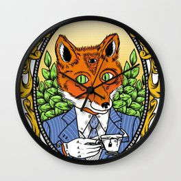 Foxy Gentleman Wall Clock