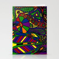 psychadelic Stationery Cards featuring Psychadelic by Groolya