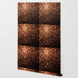 Beautiful Bronze Orange Brown glitters sparkles Wallpaper