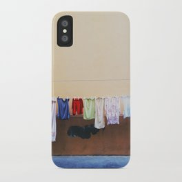Drying laundry iPhone Case