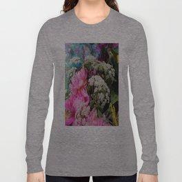 Pink Peonies & Queen Ann's Lace Bouquet Long Sleeve T-shirt