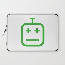 Smirking Bot / Green Laptop Sleeve