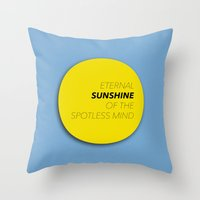 eternal sunshine of the spotless mind Throw Pillows featuring Eternal Sunshine of the Spotless Mind by kirstenariel