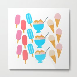 Frozen Treats Print Metal Print