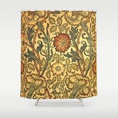 Orange and Rose Shower Curtain
