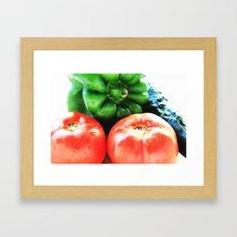 Colors of vegetables Framed Art Print