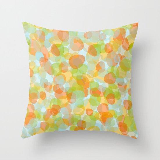 Pebbles Orange Throw Pillow