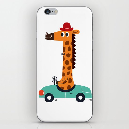 giraffe driver iPhone & iPod Skin