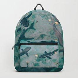 Shoal of Sharks (Color) Backpack