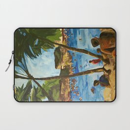 """Welcome to Streets Beach"" Laptop Sleeve"
