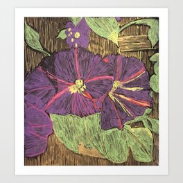 Morning Glories From My Garden Art Print