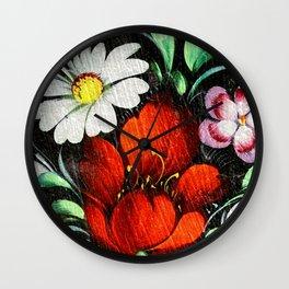 Vintage Flowers 4 Wall Clock