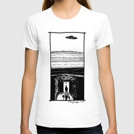 UFO Hovers High Above Underground Mining Tunnels - BNW T-shirt