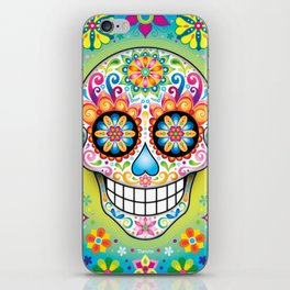 Sugar Skull Art (Jubilee) iPhone Skin