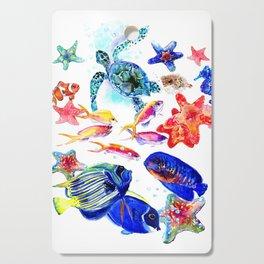 Sea World,Underwater Scene coral sea, beach tropical ocean sea beach house design Cutting Board