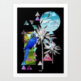 Tropical Mess Black Art Print