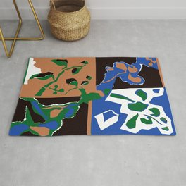 Mirrored House Plant  Rug