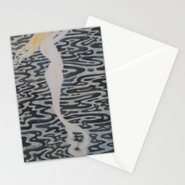 Mermaid, the shores of Tripoli nautical landscape painting by Léon Spilliaert Stationery Cards