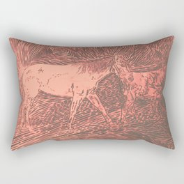 Abstract Sugar and Buford by Robert S. Lee Rectangular Pillow