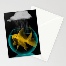 A fish out of water Stationery Cards