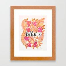 Killin' It – Melon Ombré Framed Art Print