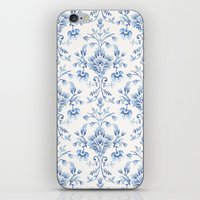 damask iPhone & iPod Skins featuring Damask... by Catherine Ann Lewis