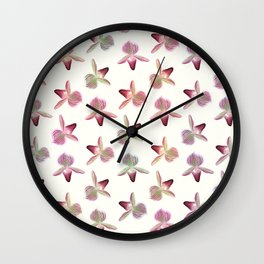 Lady Slipper Orchid Wall Clock
